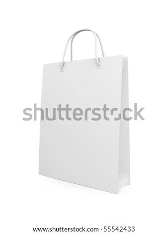 Shopping bag isolated on white - stock photo