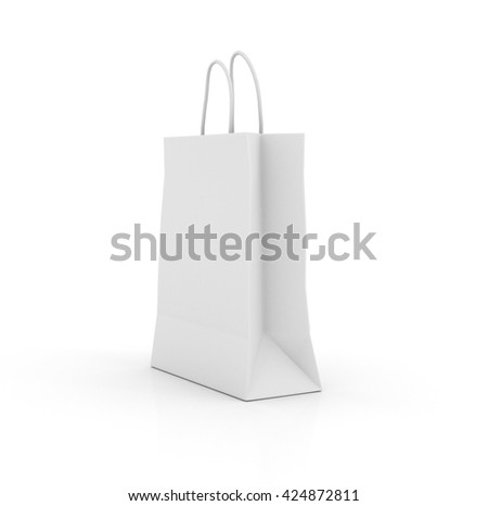 Shopping Bag Isolated on White Background. 3D rendering