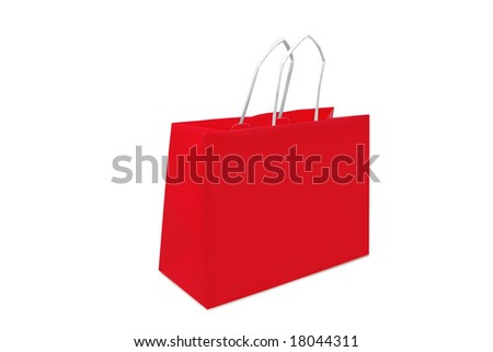Shopping bag on a white background