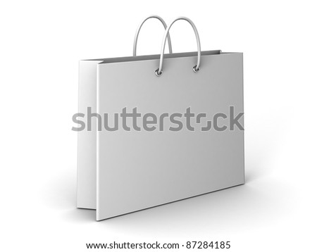 Shopping Bag on a white background - stock photo