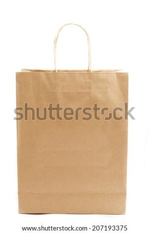 shopping bag on white - stock photo