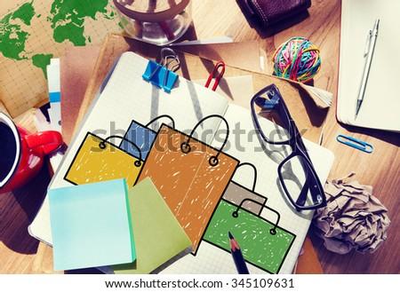Shopping Bag Sale Capitalism Shopaholic Concept - stock photo