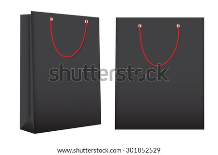 Shopping Bag Template for Advertising and Branding  Illustration  - stock photo