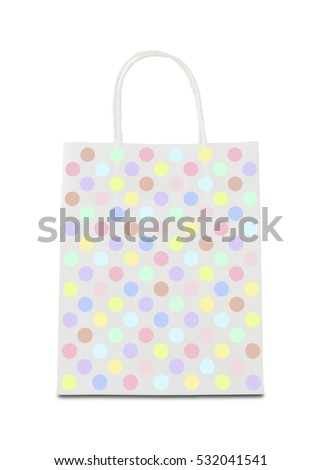 Shopping bag with dots pattern