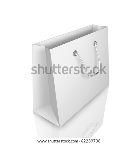 shopping bag with mirror effect isolated