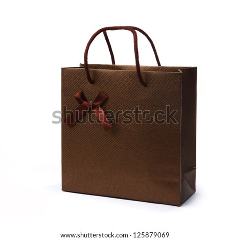 Shopping Bag with Ribbon - stock photo