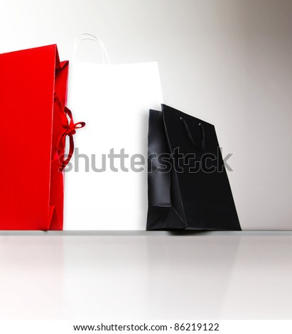 Shopping bags, gifts and presents, holiday shopping lifestyle, spending money concept - stock photo