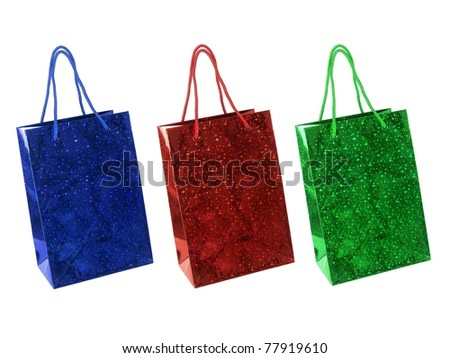 Shopping Bags isolated against a white background - stock photo