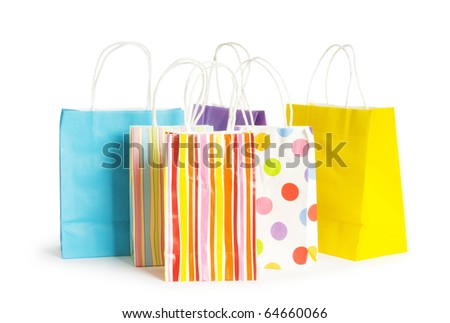 Shopping bags isolated on the white background