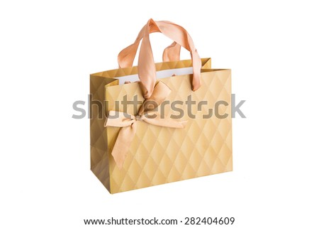 shopping bags isolated on white background - stock photo