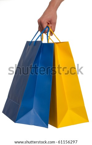 Shopping bags on a white background