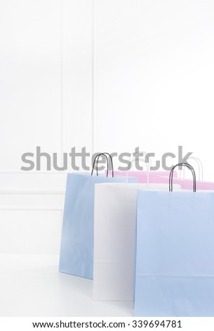 Shopping bags on the floor