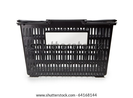 Shopping basket with balnk copy or brand space - stock photo