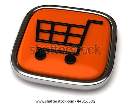 Shopping cart - stock photo