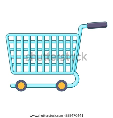 Shopping cart icon. Cartoon illustration of shopping cart  icon for web design