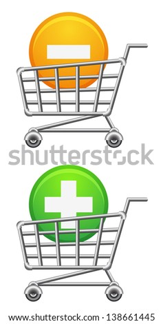 Shopping-cart icon. Raster version, vector file also included in the portfolio. - stock photo