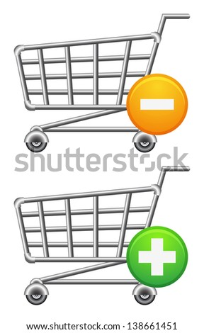Shopping-cart icon. Sale theme. Raster version, vector file also included in the portfolio. - stock photo