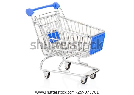 Shopping cart isolated on white, clipping path included