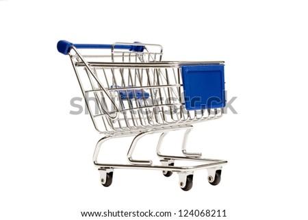 Shopping Cart Isolated XXXL - stock photo