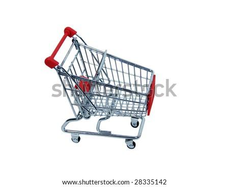 shopping cart full gifts on white stock illustration 97923470 shutterstock. Black Bedroom Furniture Sets. Home Design Ideas