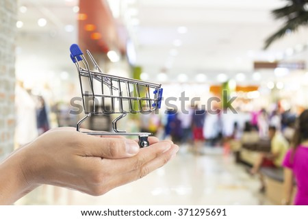 shopping cart online  with your e-commerce. - stock photo