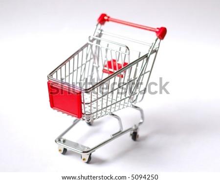 Shopping cart - shallow depth of field - stock photo