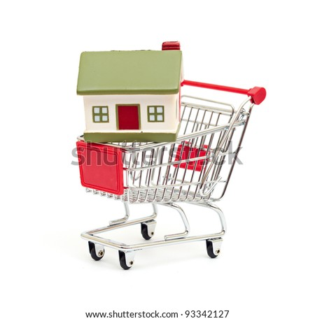 shopping cart trolley - stock photo