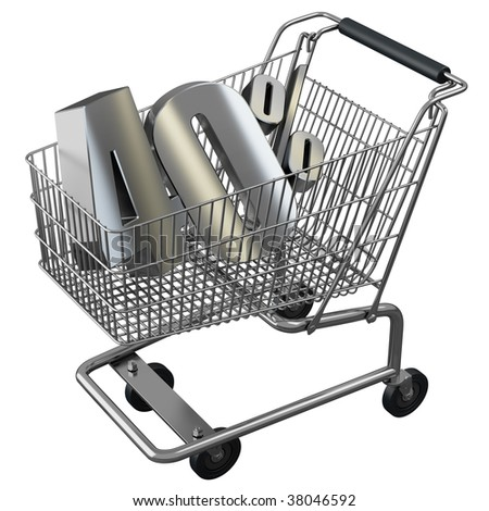 Shopping cart with 40% discount in silver