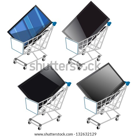 Shopping cart with tablet