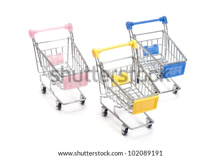 Shopping carts isolated on white background