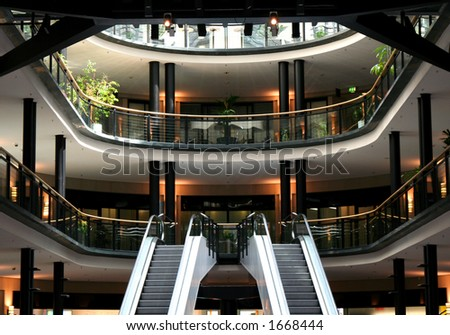 shopping centre - stock photo