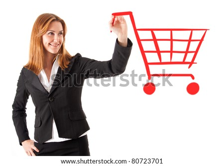 Shopping chart - stock photo