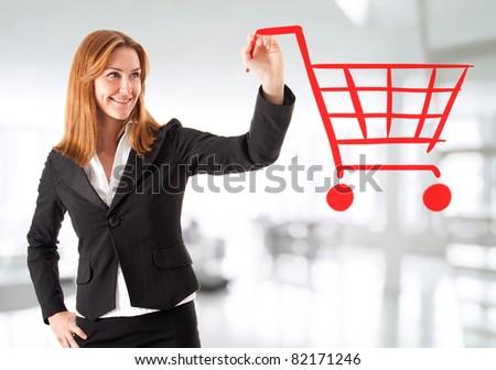 Shopping chart - stock photo