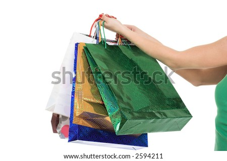 Shopping colorful bag. - stock photo