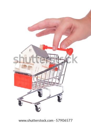 Shopping concept: shopping for a home - stock photo
