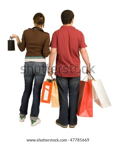 shopping couple