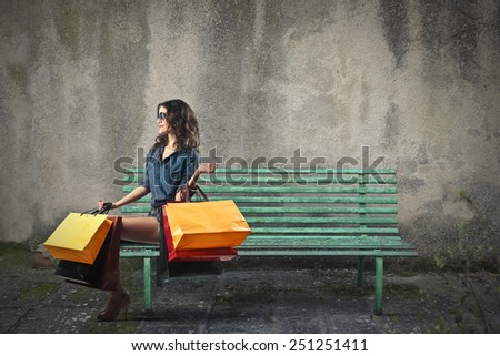 Shopping day  - stock photo
