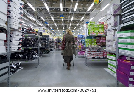 Shopping. Editorial use photo - stock photo