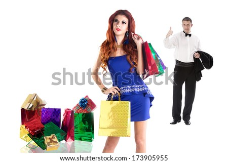 Shopping for Gifts for the Holidays Beloved young Beautiful Girl