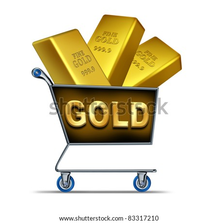 Shopping Gold Symbol Represented By Shop Stock Illustration 83317210