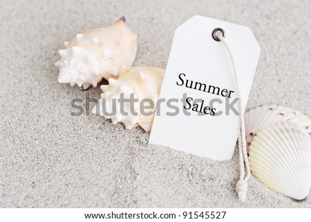 Shopping For The Summer - stock photo