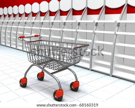 Shopping Illustration - stock photo