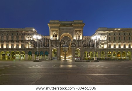 Shopping in Milan, Vittorio Emanuele II gallery, Italy - stock photo