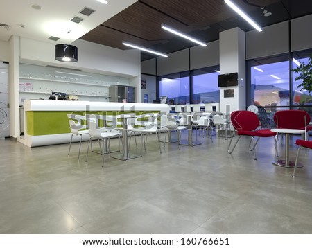 Shopping mall cafe - stock photo
