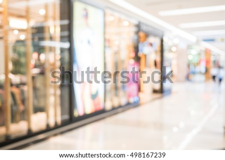 shopping mall. Defocused blur background