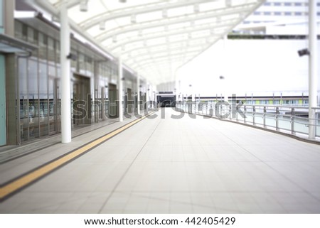 Shopping mall terrace - stock photo