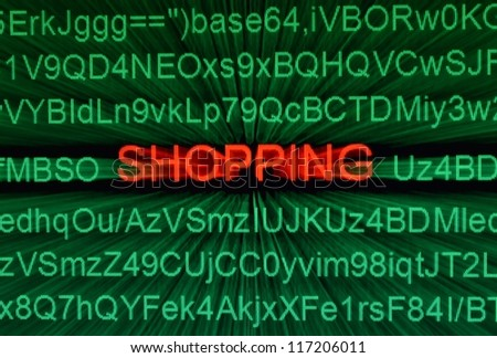 Shopping online - stock photo