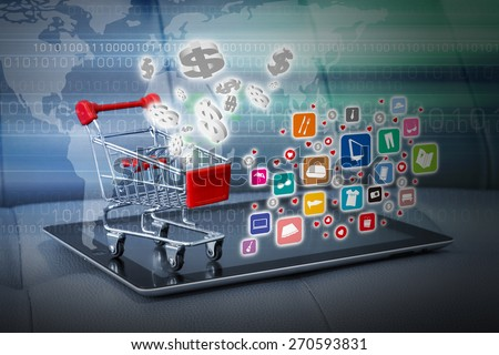 Shopping online concept - stock photo