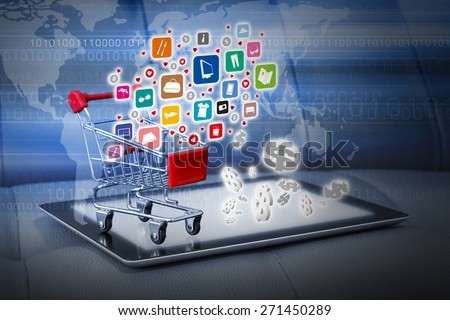 Shopping online concepts. Elements of this image furnished by NASA. - stock photo