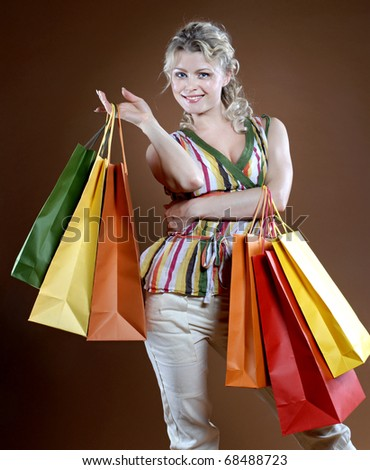Shopping sexy woman - stock photo